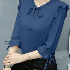Summer Hollow Out Lace Women Sexy Sleeveless Blouse Tops – Prilly women tops women shirts blouse shirts blouses classy s Kurti Sleeves Design, Kurta Neck Design, Sleeves Designs For Dresses, Dress Neck Designs, Kurta Designs, Blouse Designs, Blouse Outfit, Blouses For Women, Fashion Outfits