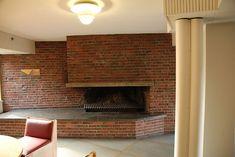 Baker House Aalto fireplace