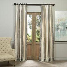 Exclusive Fabrics Denmark Faux Silk Taffeta Stripe Curtain | Overstock.com Shopping - The Best Deals on Curtains