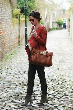 Zara Jacket, Mulberry Bayswater Bag, Isabel Marant Dicker Boots