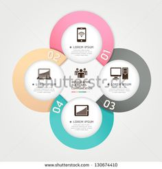 Modern communication technology circle origami style options banner. Vector illustration. can be used for workflow layout, diagram, number options, step up options, web design, infographics.