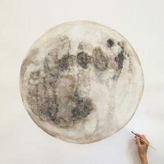 Moon, Art, Painting, Quelle:i-love-art Inspiration Art, Art Inspo, Art Amour, Into The Wild, Art Graphique, To Infinity And Beyond, Pics Art, Art Pictures, Art Design