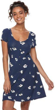 d0aeeb778d0 So Juniors  SO Button Front Short Sleeve Dress