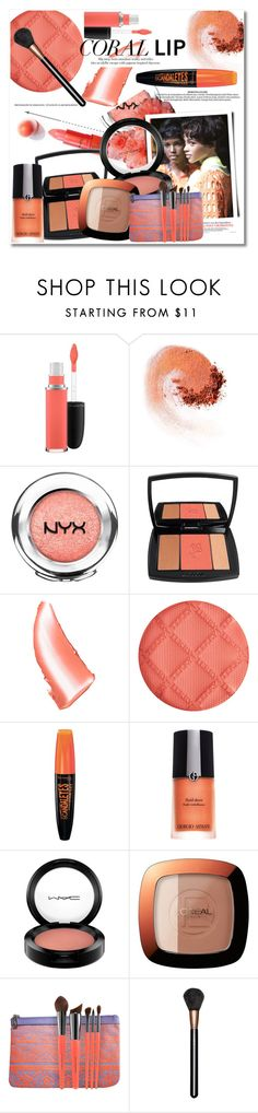 """Beauty look"" by vkmd on Polyvore featuring beauty, MAC Cosmetics, NARS Cosmetics, NYX, Lancôme, By Terry, Rimmel, Giorgio Armani, L'Oréal Paris and Sephora Collection"