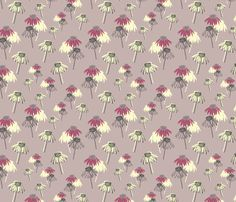 Echinacea purpurea fields pattern (shine bright collection) by @alextilalila