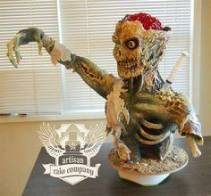 The Zombie Cake by Artisan Cake Company is Incredibly Life-Like #halloween #food trendhunter.com