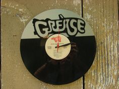 Repurposed recycled Vinyl Record  Grease  vinyl clock by ReSpinIt, $45.00