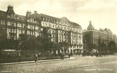Warsaw Polonia Hotel at Jerosolima Allee Poland Map, World Of Chaos, Warsaw Uprising, War Image, Classic Architecture, Popular Art, Old Town, Budapest, In The Heights