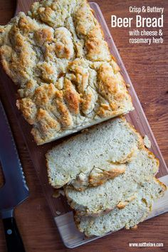 Beer Bread with Cheese and Rosemary. Recipe by Irvin Lin of Eat the Love.