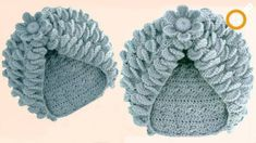 Baby Knitting Patterns Headband Crochet knit hat with meringue leaves and woven flower with hook .These are some of the most eye-catching and elegant designs of crochet hats. Most of these projects are fresh new, so you have a chance of being first t Crochet Turban, Crochet Owl Hat, Crochet Puff Flower, Baby Girl Crochet, Crochet Flower Patterns, Crochet Stitches Patterns, Baby Knitting Patterns, Crochet Dolls, Crochet Designs
