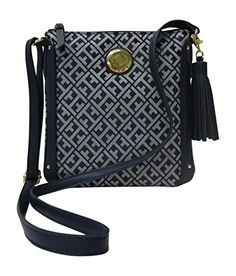 Tommy Hilfiger Womens Crossbody Bag Small Shoulder Bag Tassle Navy Blue ** Check this awesome product by going to the link at the image. (This is an affiliate link) Fossil Handbags, Fall Handbags, Cute Handbags, Tommy Hilfiger Handbags, Blue Check, Small Shoulder Bag, Small Bags, Crossbody Bag, Navy Blue