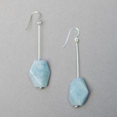 aquamarine 'meteor' earrings