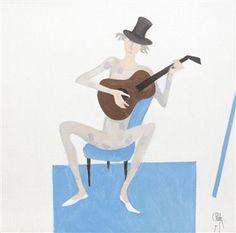 Constantin Piliuţă Harlequin, 1990 oil on canvas x cm Romania, Oil On Canvas, Disney Characters, Fictional Characters, Disney Princess, Artwork, Art Work, Work Of Art, Auguste Rodin Artwork