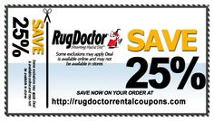 Rug Doctor Al Printable Coupons 2016