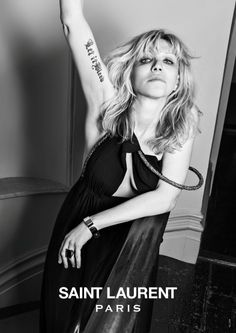 Courtney Love for Saint Laurent.