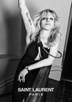 Courtney Love for Saint Laurent.