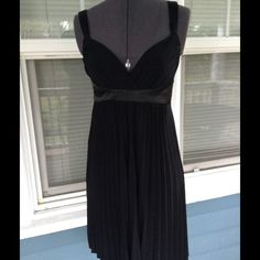 "💃MYSTIC Black Babydoll Dress 💃MYSTIC Black Babydoll party dress.  Empire waist. Pleated skirt.  Black polyester/spandex blend material.   Length 35"" (shoulder to hem).  Great condition. Mystic Dresses Mini"