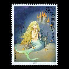 Hans Christian Andersen stamp by Tom BKK, via Flickr