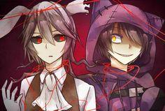 White Rabbit and Cheshire Cat - Alice Mare