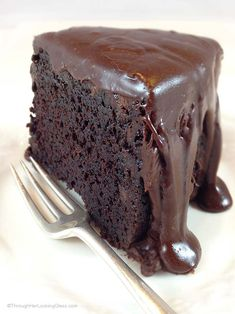 Brick Street Chocolate Cake for CONVENTIONAL Oven. All your dreams of a rich, dense chocolate cake. Bakes in a regular oven. Rich chocolate ganache icing!