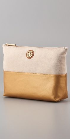 Tory Burch cosmetics bag.