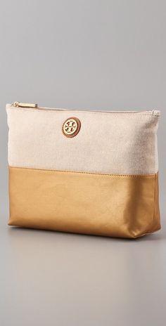 Tory Burch cosmetics bag.