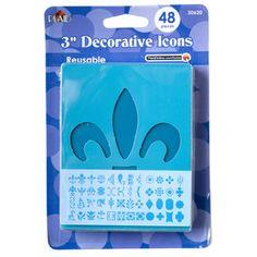 """Plaid Decorative Icon Stencils, 4"""""""