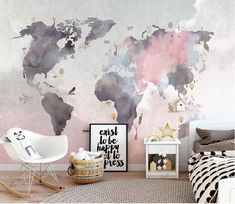 Modern world map design wallpaper. High quality pink and gray abstract card . Modern world map design wallpaper. High quality pink and gray abstract card . World Map Mural, World Map Wallpaper, Home Wallpaper, World Map Decor, Nursery Wallpaper, Wallpaper Size, Map Wall Decor, Wall Murals, Room Decor