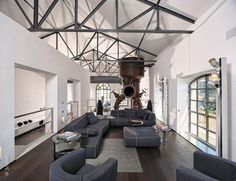 modern waterhouse conversion 7 Water Cleaning Station Converted Into Striking Modern Mansion