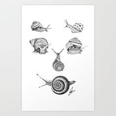 Snail Smile Art Print by Peter WongWW - $18.00