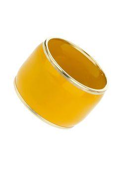 Mustard yellow bangle