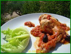 Lapin à la tomate et à l'ail