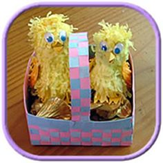 Easter basket ideas, how to make homemade baskets from colored card. All of my craft ideas have step by step instructions and photo's.