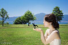 青空広がる*琵琶湖湖畔での前撮り | *elle pupa blog*