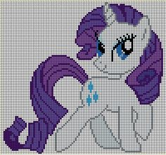 my little pony cross stitch patterns to print rarity | Found on jackiekie.deviantart.com