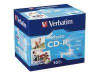 Disc CD-R/W 80 min Photo Grade 52X 10pk Jewel Case Box by Verbatim. $7.50. Verbatim 52x CD-R Media 95517 CD Media. Save 33%!