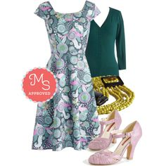 What Does the Fox Wear Dress by modcloth on Polyvore featuring Moon Collection, Mata Traders, Spring, outfit, pastels and modcloth