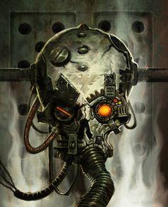 Servo Skull , John Mueller on ArtStation at https://www.artstation.com/artwork/servo-skull