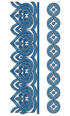 New Border Embroidery Design 18350 Border Embroidery Designs, Embroidery Motifs, Rope Frame, Pewter Art, New Designer Dresses, Clothing Sketches, Diy Plant Stand, Cutwork, Sketch Design