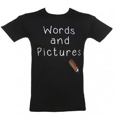 Men's Words and Pictures T-Shirt from TruffleShuffle xoxo