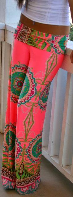Colorful palazzo pant fashion style | FASHION WINDOW