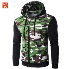 75ea2d50c13d Men Hoodies Jacket Brand Clothing Fashion Hoodies Man Casual Camouflage  Splicing Slim Hoody Sweatshirt Sportswear Zipper