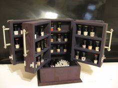 BPAL essential oil 5 ml bottle storage Toniette's by millinginline, $170.00 - I want this.  And then I want more BPAL bottles to fill it with.