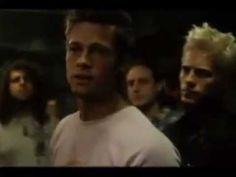 "El club de la Lucha - ""Somos los hijos malditos de la historia"" Brad Pitt, Fight Club, Arms, Cinema, Spirit, Youtube, Sons, History, Movie Theater"