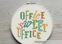 modern cross stitch pattern office sweet office par Happinesst