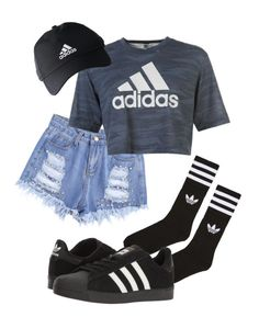 """Adidas"" by pyatt184 ❤ liked on Polyvore featuring adidas"