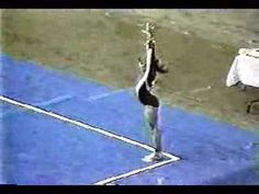 Shannon Miller at age 11 on floor- holy crap she was good from the start --She was the 1993 and 1994 World All-Around Champion, the 1996 Olympics balance beam gold medalist