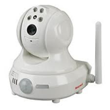 Honeywell Ademco IPCAM-PT Compact Pan & Tilt IP Camera A wireless, compact Pan & Tilt IP Camera perfect for monitoring your home or business (This is not a standalone IP camera and requires a subscription to Honeywell's Total Connect service. Surveillance Equipment, Security Surveillance, Security Camera, Security Alarm, Iris Recognition, Wireless Cctv Camera, Ptz Camera, Home Security Systems