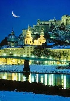 Salzburg - Most Beautiful City in Europe - The City of Mozart Salzburg, Austria - My favorite place in the whole world! My late hubby took me to see The Sound of Music on our date & I fell in love with him & Salzburg at the same time! Places Around The World, Oh The Places You'll Go, Travel Around The World, Places To Travel, Places To Visit, Around The Worlds, Wonderful Places, Great Places, Beautiful Places