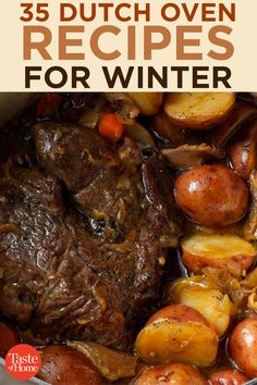 35 Dutch Oven Recipes for Winter 35 Dutch Oven Recipes for Winter 35 Dutch Oven Recipes for Winter<br> Stews, soups, roasts and one-pot wonders to keep the winter chill away. Oven Chicken Recipes, Dutch Oven Recipes, Meat Recipes, Dinner Recipes, Cooking Recipes, Healthy Recipes, Cooking Ideas, Dutch Oven Cooking, Dutch Ovens